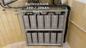 Batteriebank 24V/306Ah